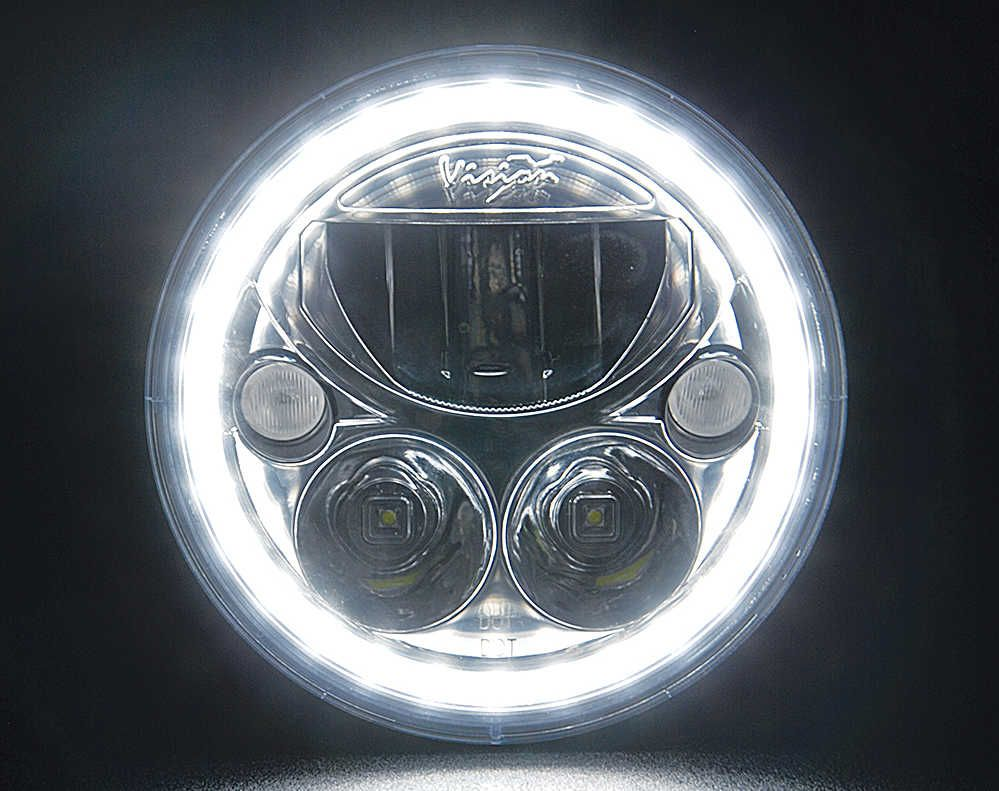 The Vision X Vortex Series Led Headlight Is A Plug And Play Factory Wiring Or Po Of Our Headlights Before Replacement For Your Lighting With Complete New Housing Multiple Options