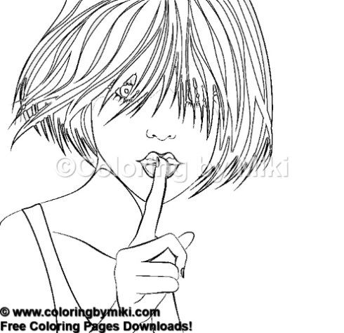 beautiful woman portrait coloring page #1257 | ultimate coloring