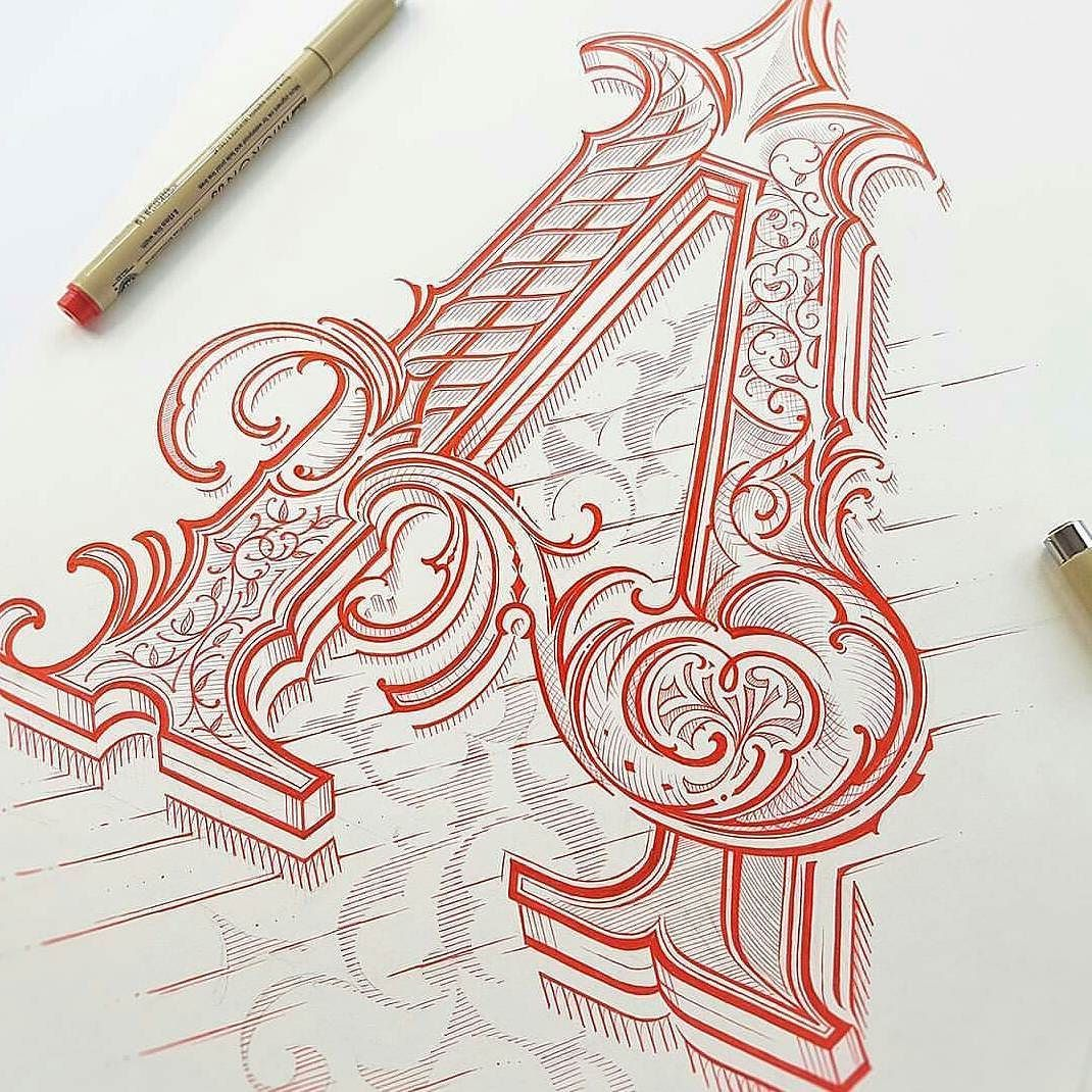 """""""A"""" - Stunning lettering by @mateuszwitczakdesigns // #typographyinspired by typographyinspired"""
