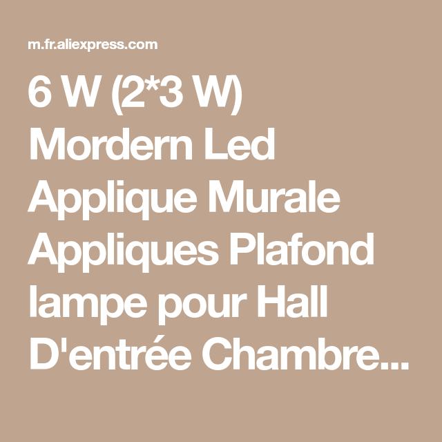 6 W 2 3 W Mordern Led Applique Murale Appliques Plafond lampe pour