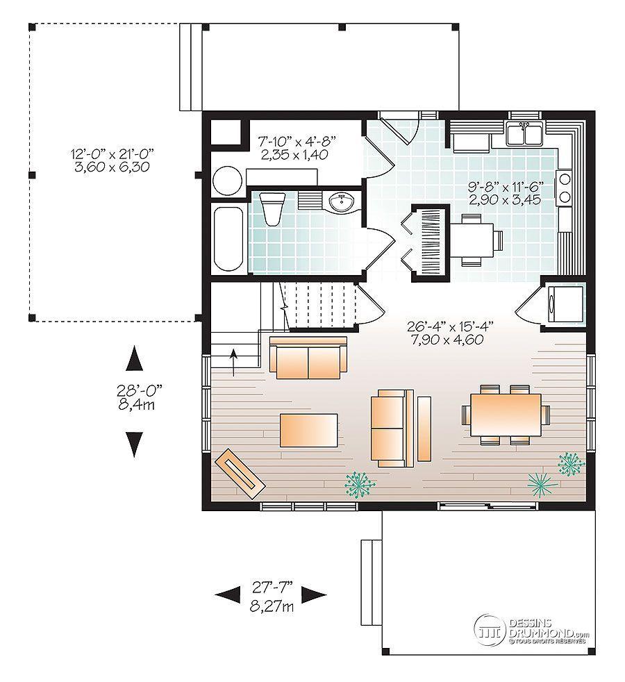 Détail Du Plan De Maison Unifamiliale W3968