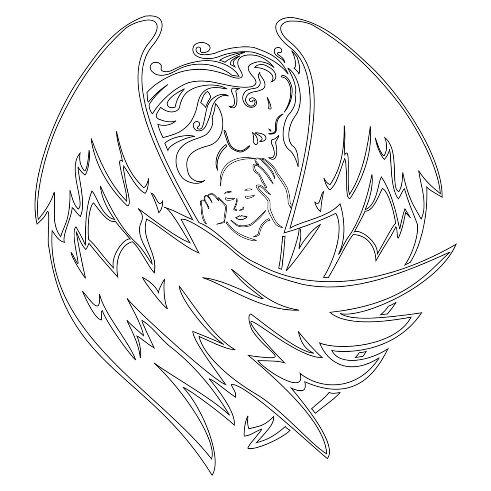 Tattoos Book Free Printable Tattoo Stencils Angels