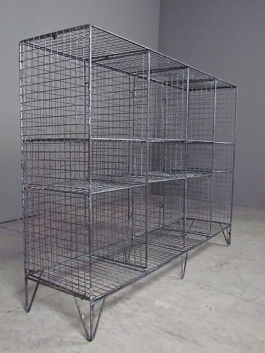 industrial shelving   redinfred cubes   cubbies from industrially     industrial shelving   redinfred cubes   cubbies from industrially inspired  metal mesh  organize in style