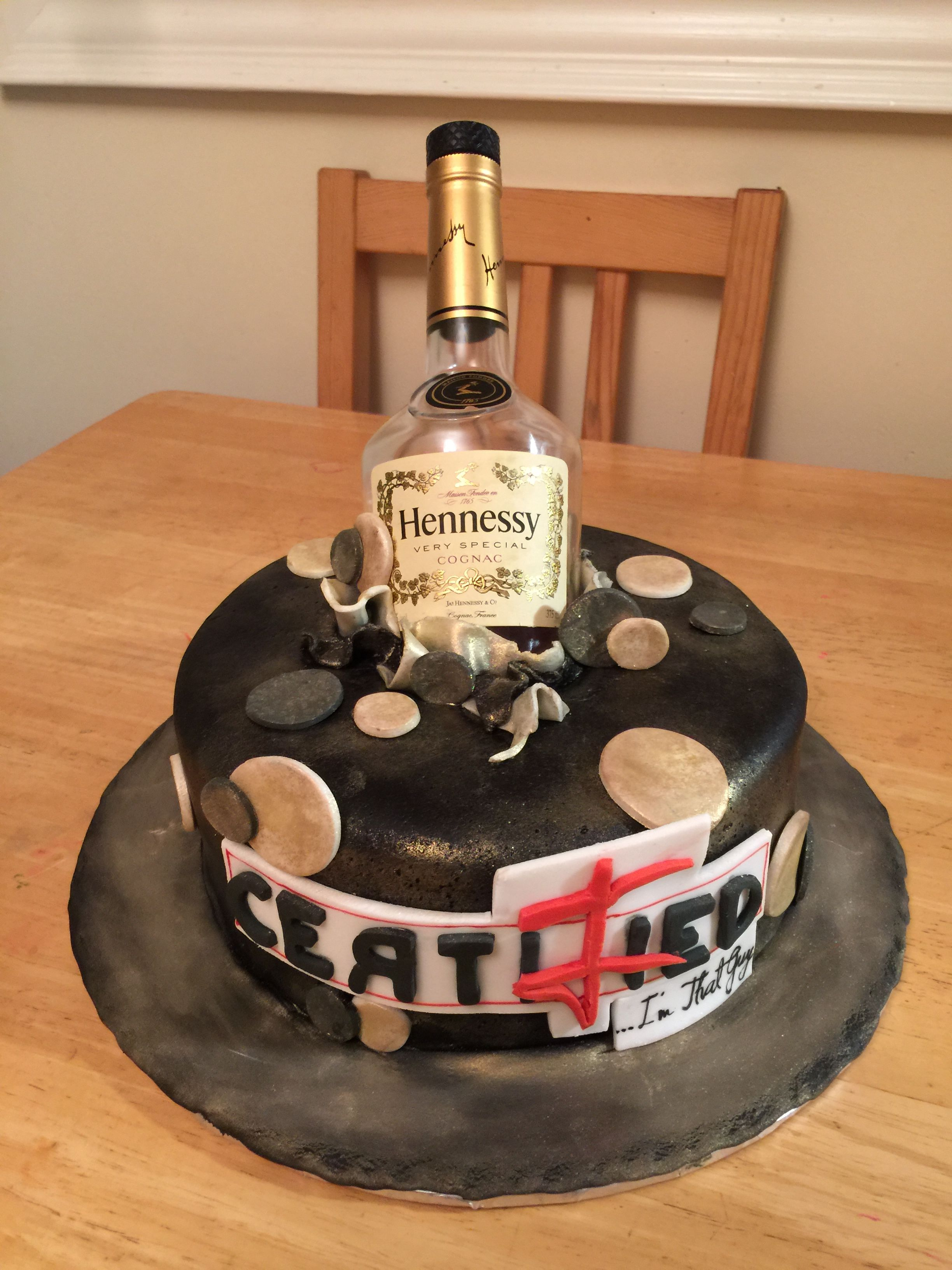 Hennessy Birthday Cake Hennessy Flavoured White Cake Mix With