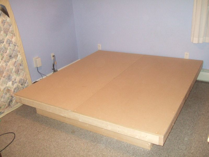 how to make a modern platform bed for under 100