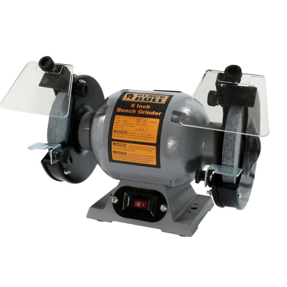Black bull 120volt 6 in heavyduty bench grinder800319