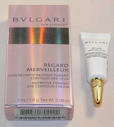 Bvlgari Gem Essence by Bvlgari, 0.06oz Nutritive Firming Eye Contour Cream by Etailer360. $12.99. Product:Bvlgari Gem Essence. Design House:Bvlgari. Combines the efficiency of Nutri-Restore Complex with Eye-Design technology. Its silky texture envelopes eye areas in a soft veil, creating unparalleled comfort. It helps to redensify the eye contour region for a restructured appearance that sparkles radiantly.. Save 35%!
