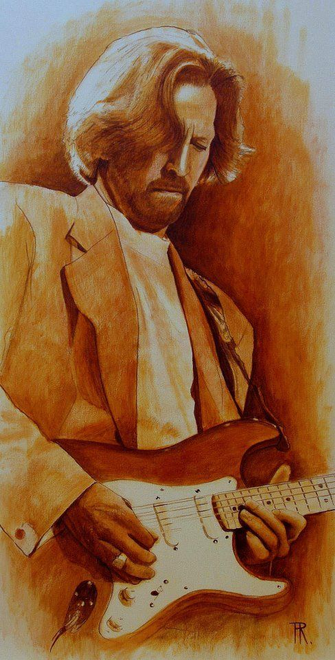 Eric Clapton - painted by Theo Reijnders