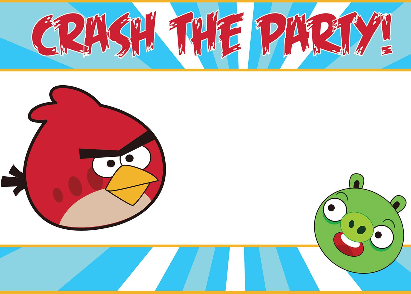 Free Printable Angry Birds Invitations