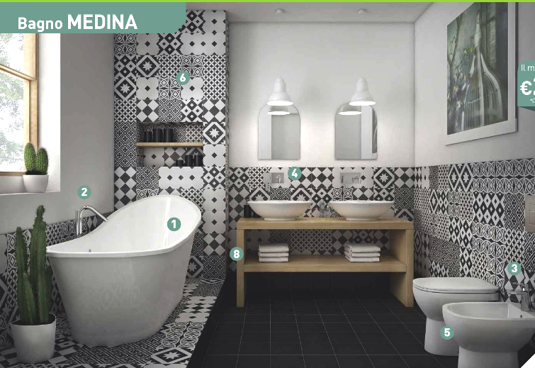Cestini Da Bagno Leroy Merlin : Bagno medina leroy merlin these tiles bagni bathrooms