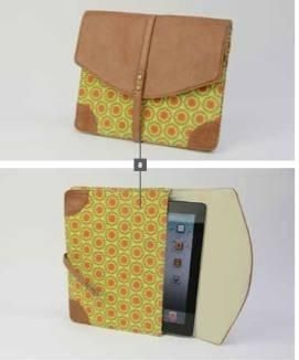 Tech Case in Daydream Daisy Fits most tablets Adjustable clasp  Faux Leather and cotton https://www.facebook.com/groups/shallasta/
