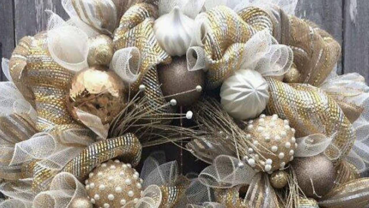 ideas para decorar tu navidad en dorado christmas diy. Black Bedroom Furniture Sets. Home Design Ideas