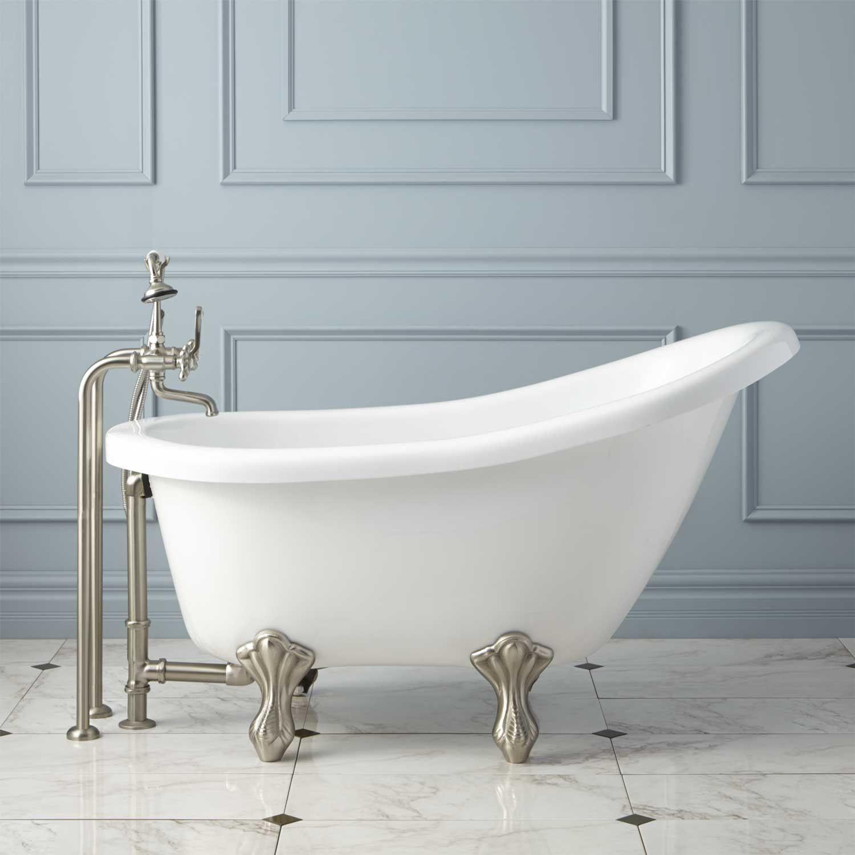 Victorian Acrylic Slipper Clawfoot Tub Acrylic Tub Cast