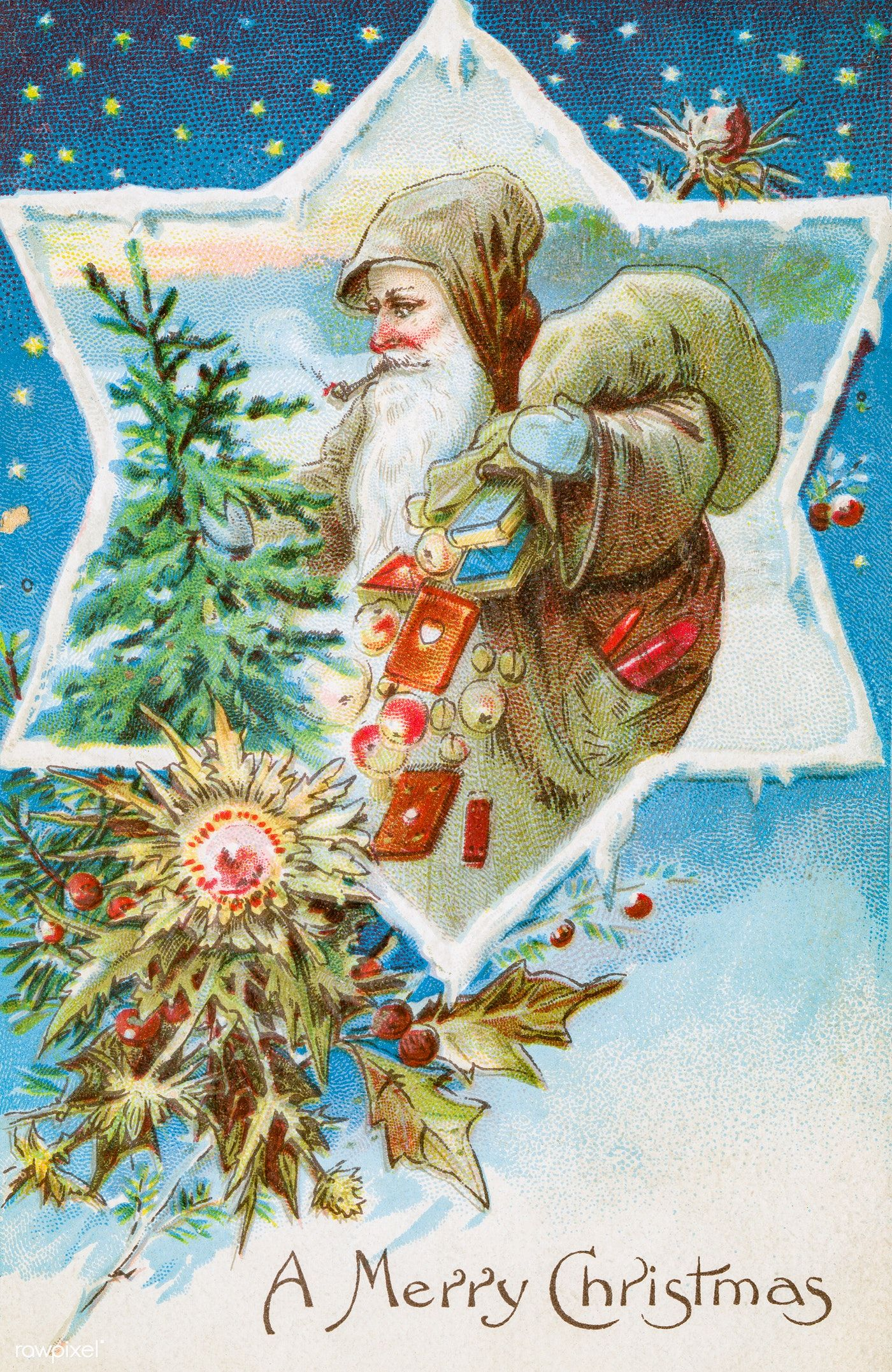 Vintage Christmas Postcard from The Miriam and Ira D