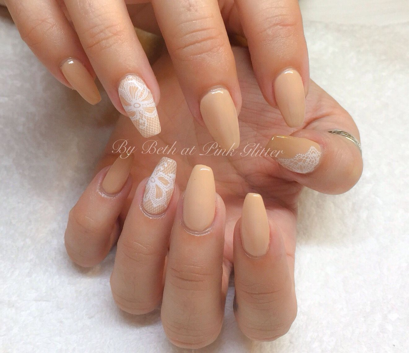 Nude Lace Nails