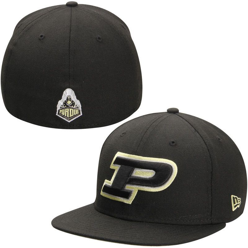 good texture clearance prices reliable quality Purdue Boilermakers New Era Basic 59FIFTY Fitted Hat - Black ...