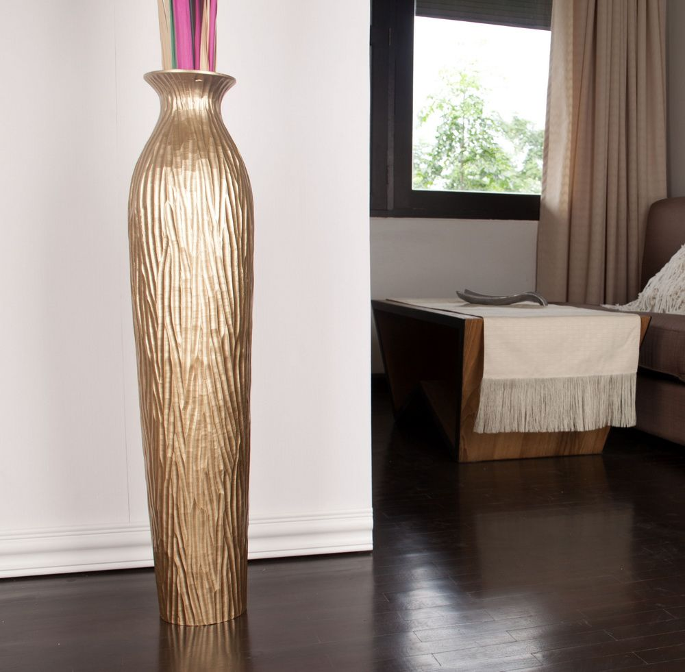 Leewadee Tall Big Floor Standing Vase For Home Decor 36 Inches