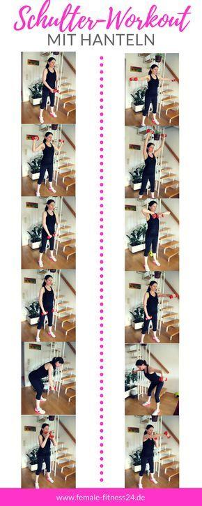 ▷ Schulterworkout mit Kurzhanteln - Fitness-Studio oder Home-Workout