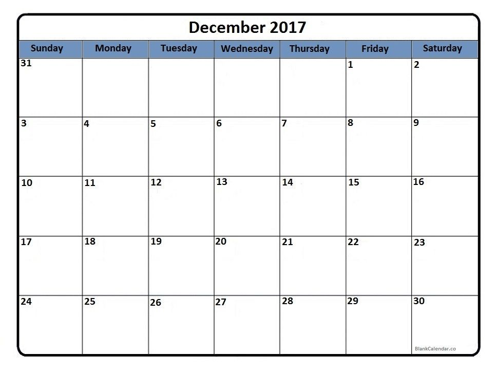 December  Printable Calendar  Accommodation Cleaning Schedule