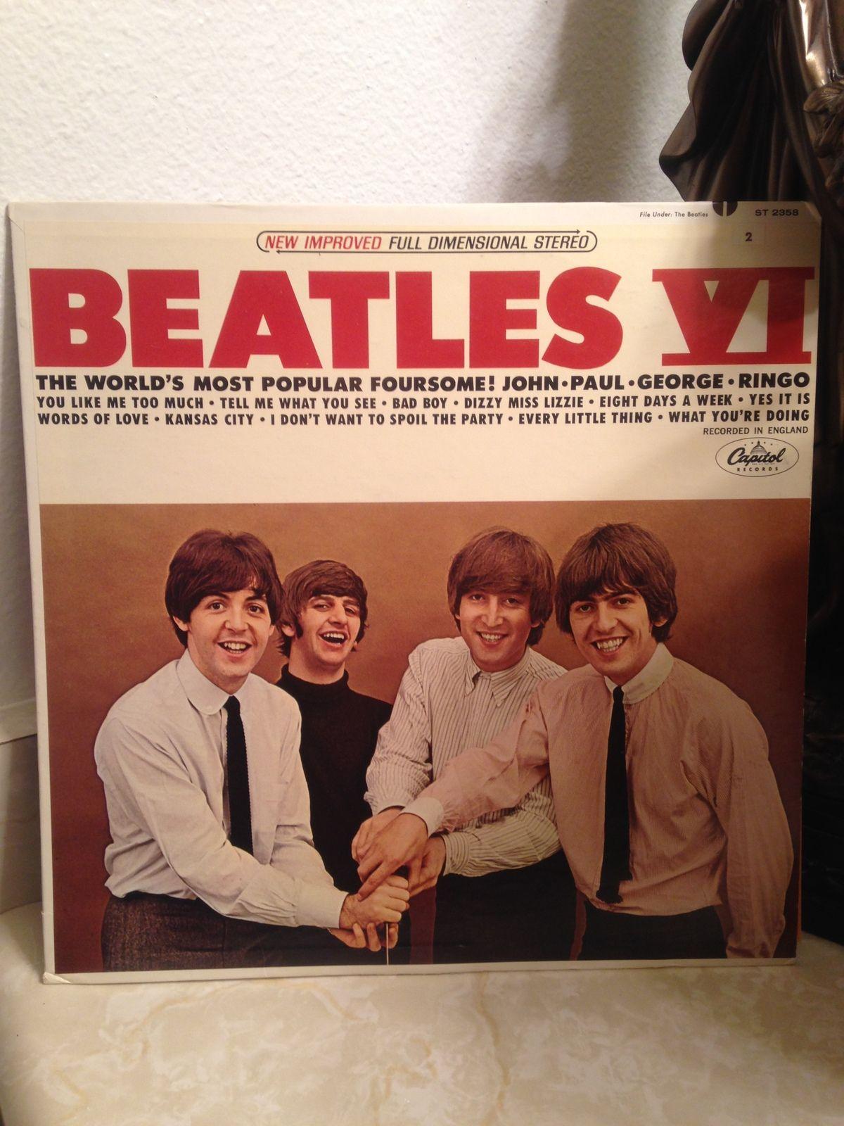 The beatles vi capitol records st record album beatles