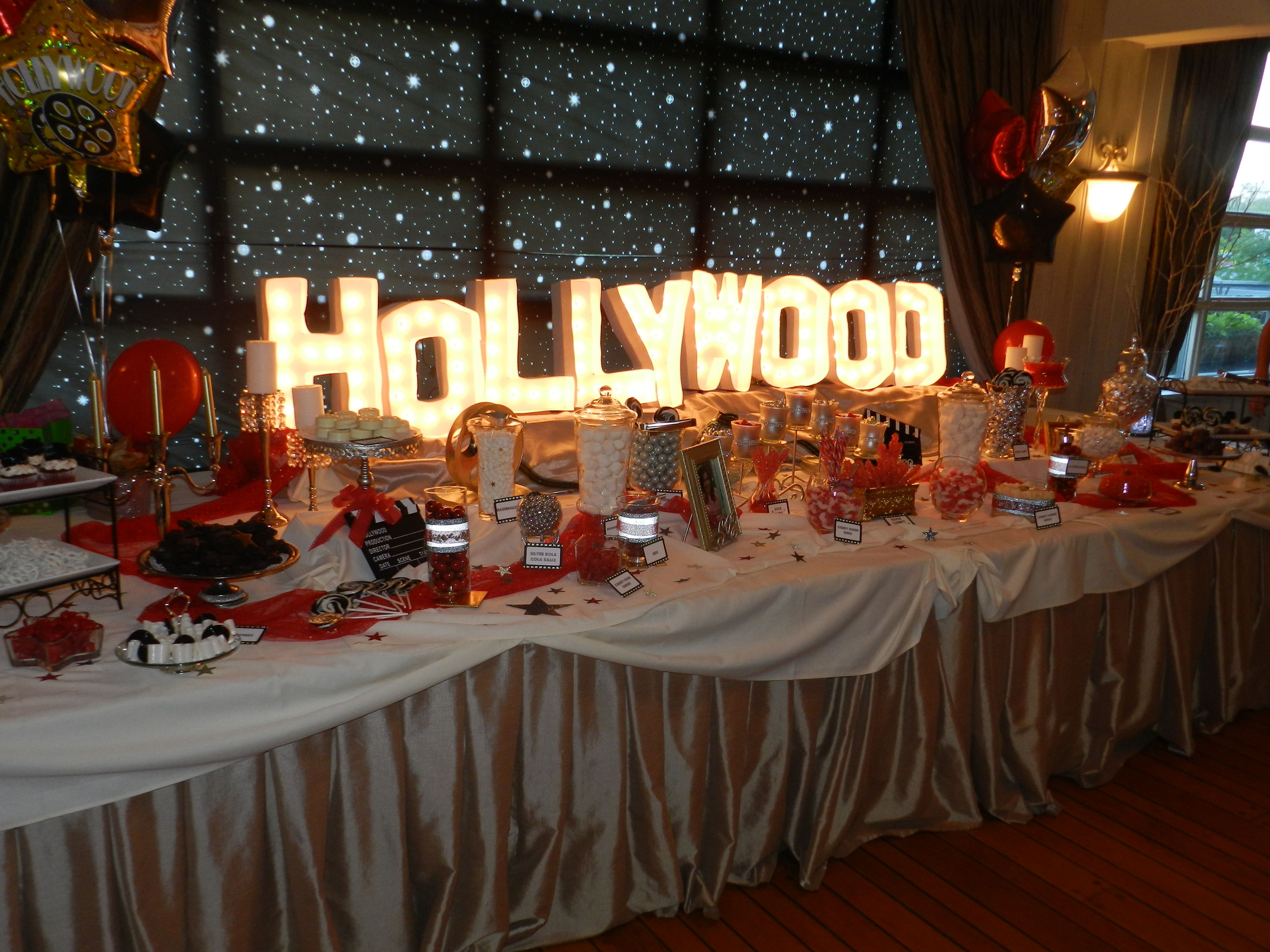 Hollywood Sweet 16 Party Theme Candy Bar
