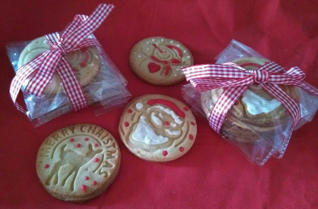 Cookies navideñas de mantequilla y glasa