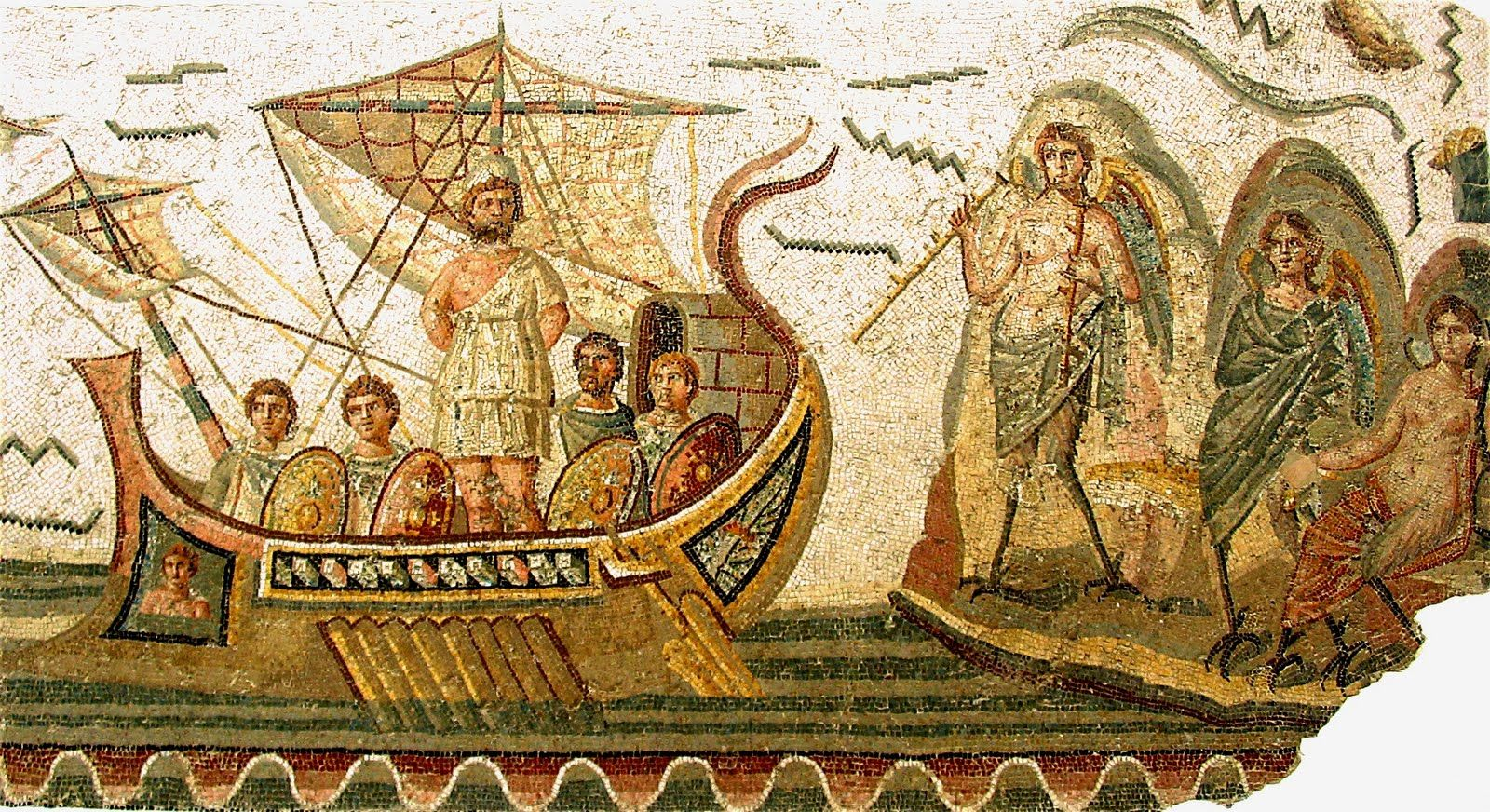 Odysseus and the sirens mosaic roman 3th century tunis bardo the mosaic roman 3th century tunis bardo fandeluxe Image collections