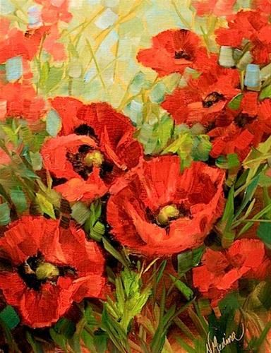 Unfurled red poppies by texas flower artist nancy medina unfurled red poppies by texas flower artist nancy medina original fine art mightylinksfo Gallery