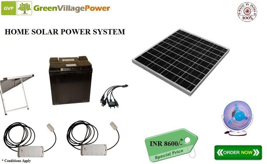 Panel Rating 40 Wp 12v Solar Panel With 5 Mtr Wire Battery 26ah 12v Smf Battery Led Lights 5w L Solar Power House Led Tube Light Solar Power System