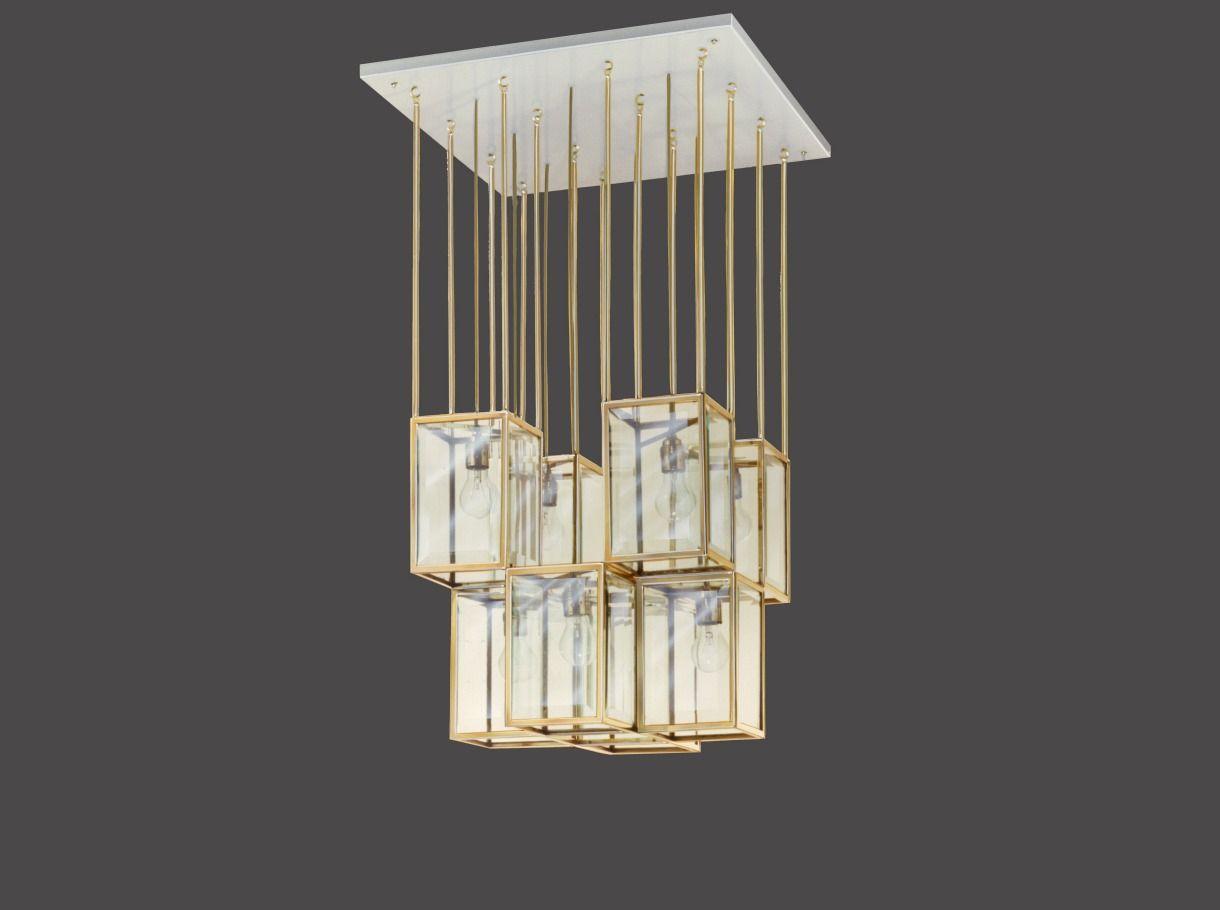 Ceiling Lamp Design Josef Hoffmann 1900 Weight 40 Kg Max 8 X