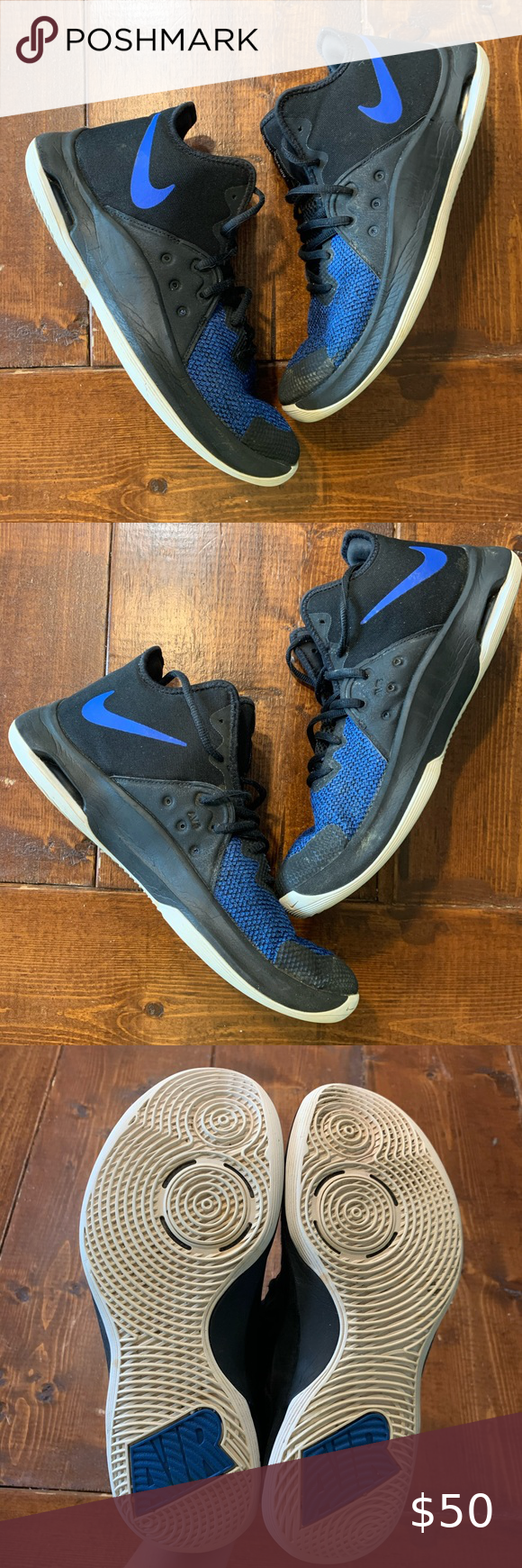 Nike Air Versitile 3 Black and Blue in