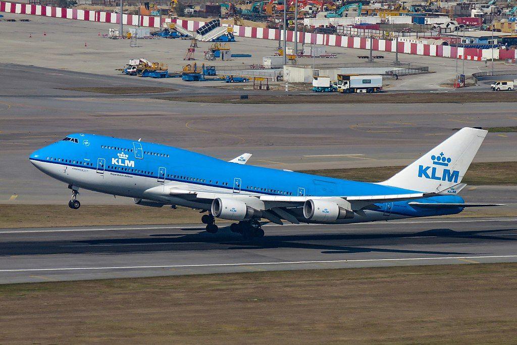 Ph Bfs Boeing 747 400m Klm City Of Seoul Departing Hong Kong International Airport Boeing 747 Boeing 747 400 Boeing