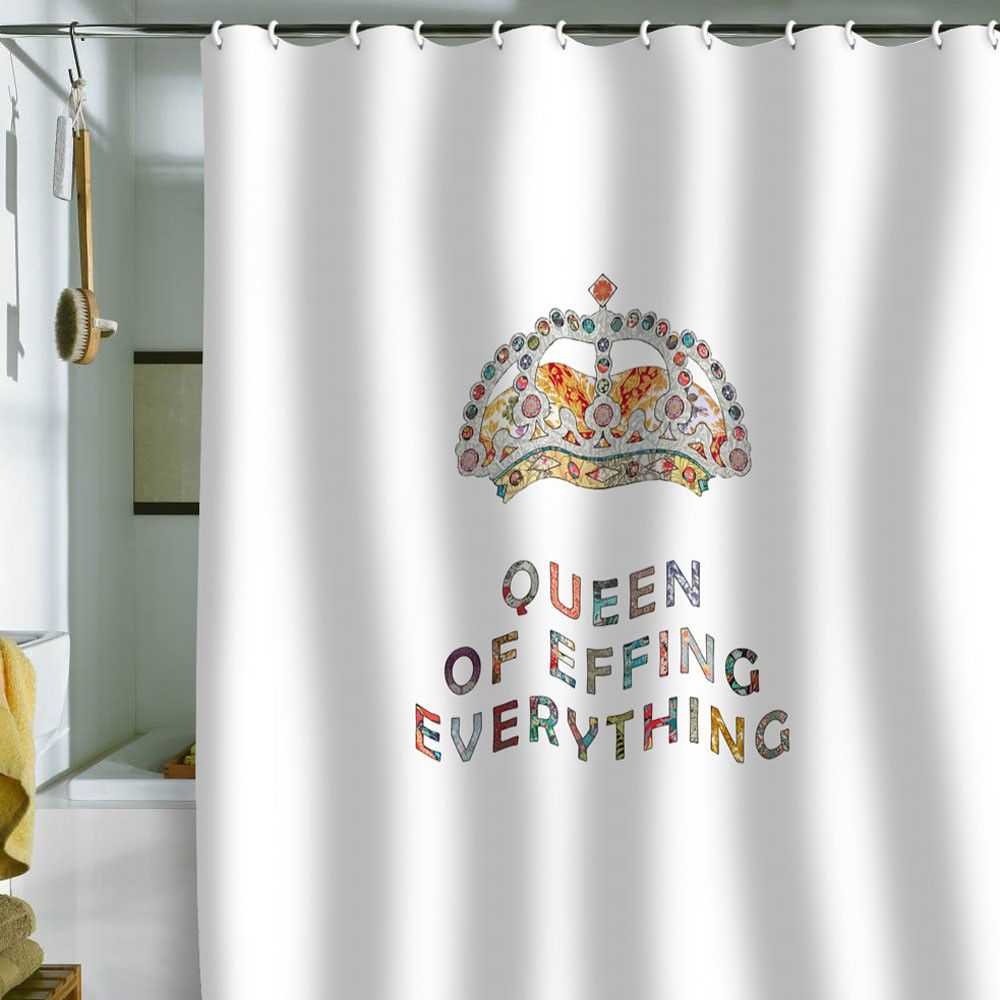 Bianca Green Her Daily Motivation Shower Curtain Slightly Ridiculous Probably Why I Like It