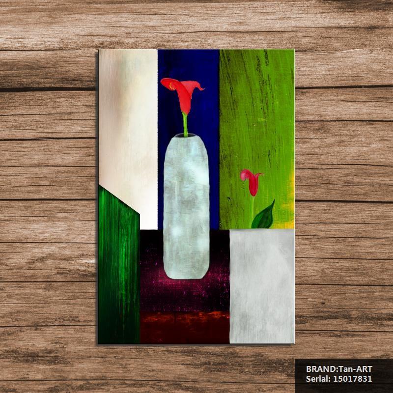 Vase de fleurs à l\u0027huile abstraite peinture dessin art pulvérisation