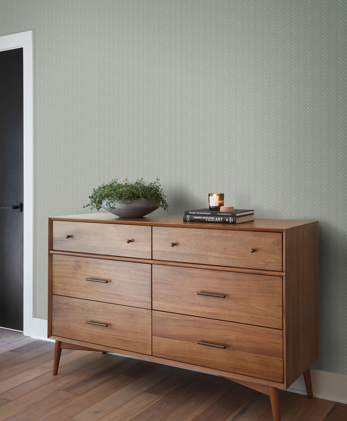 Magnolia Home PickUp Sticks Wallpaper White/Gray in