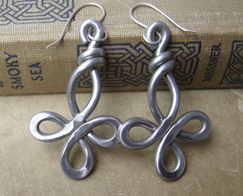 Big Celtic Cross Earrings, Light Weight Aluminum Wire Cross Jewelry ...