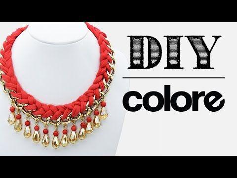 4bd92424b9b3 DIY Collar Trenzado con Cadena y Cristal - Colore Accesorios - YouTube