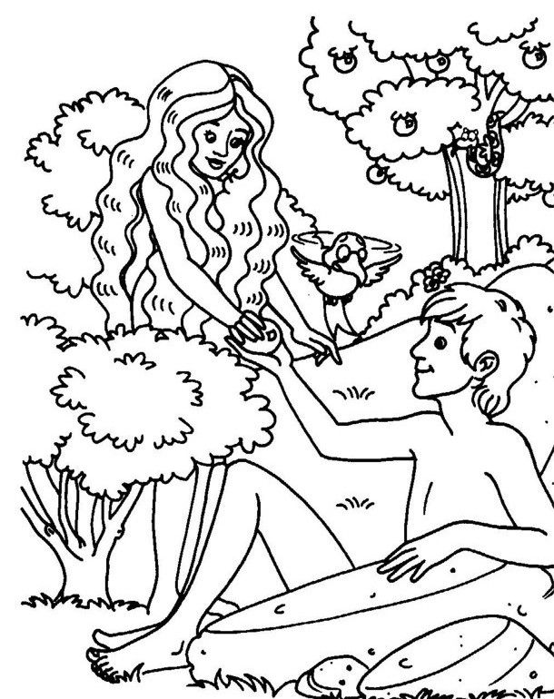adam and eve coloring to learn the meaning of easter sin is introduced preschool bible coloring pages