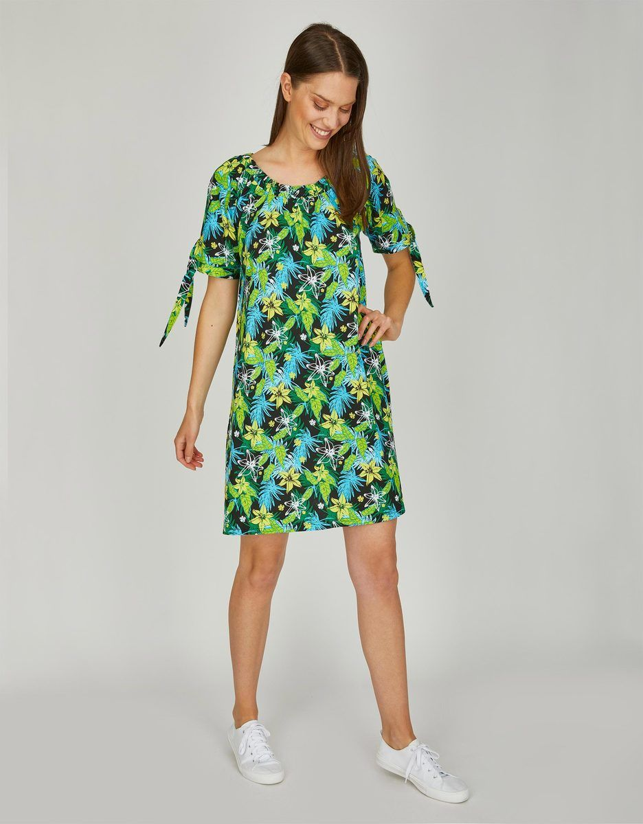My Own Jerseykleid Mit Alloverprint In 2020 Modestil Kleider Kleider Damen