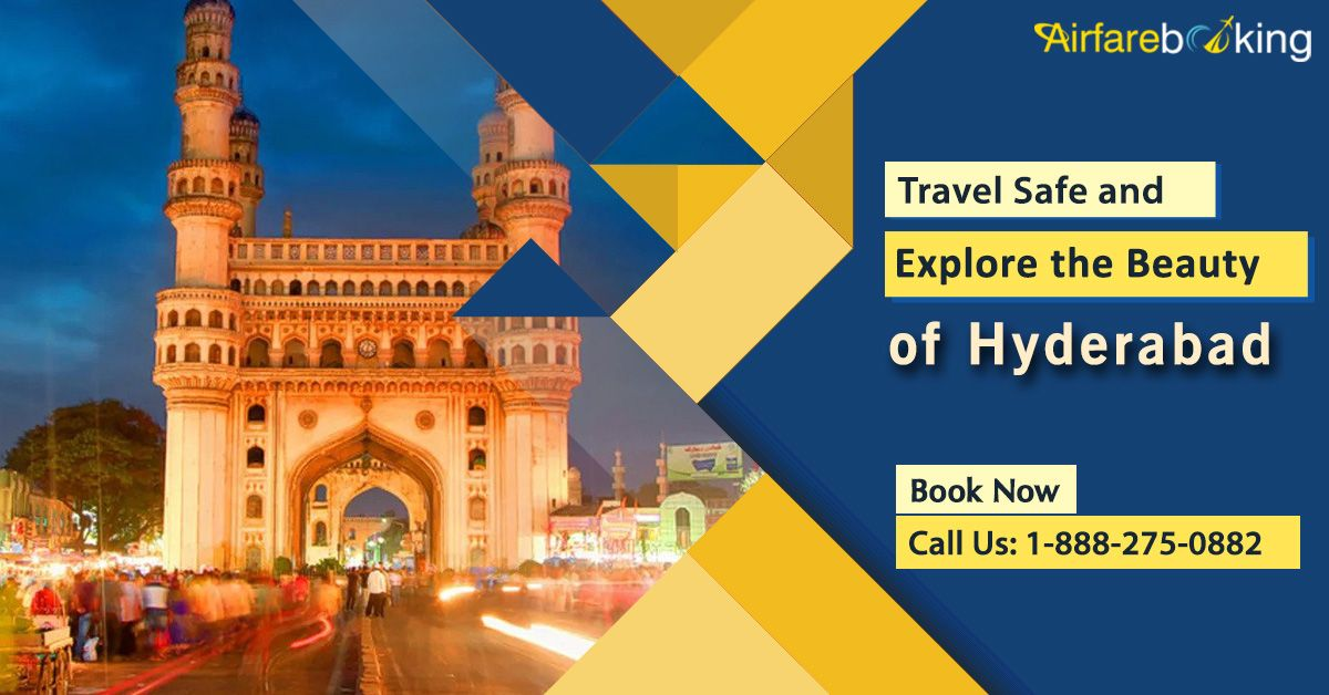 Explore the beauty of #Hyderabad within your budget. Book cheap air tickets from the #USA to Hyderabad only on #Airfarebooking!   For more information CALL:- 1-888-275-0882 (Toll-Free).  #FlightsToHyderabad #hyderabadcity #travel #travelling #hyderabadflights #cheapfare #cheapairfare #CheapFlightTickets #USAtoINDIAFlights #TraveltoIndia #VisitHyderabad