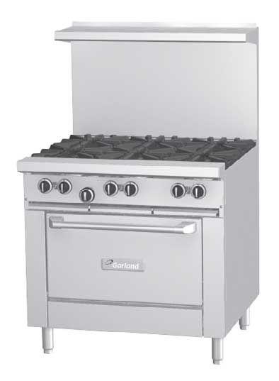 Garland G36 6r 36 Inch Open Top Burner Gas Restaruant Range G Series Gas Range Restaurant Equipment Kitchen Equipment