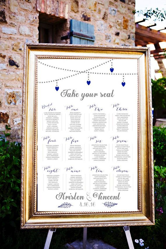 Modern Heart Wedding Seating Assignments Wedding Seating Chart Wedding Table Assignments T Wedding Table Assignments Seating Chart Wedding Table Assignments