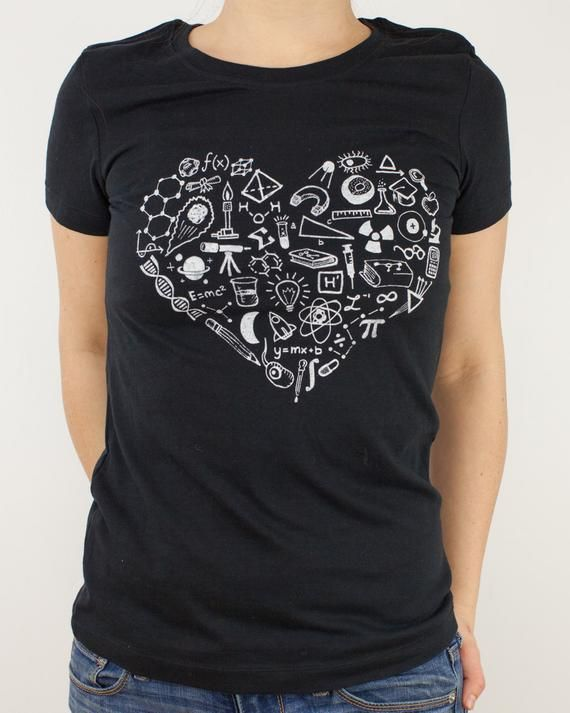 154fb461 Love Science T-Shirt | Mathematics, Biology, Physics, Graduation Gifts for  Her, Gifts for men, nerd,