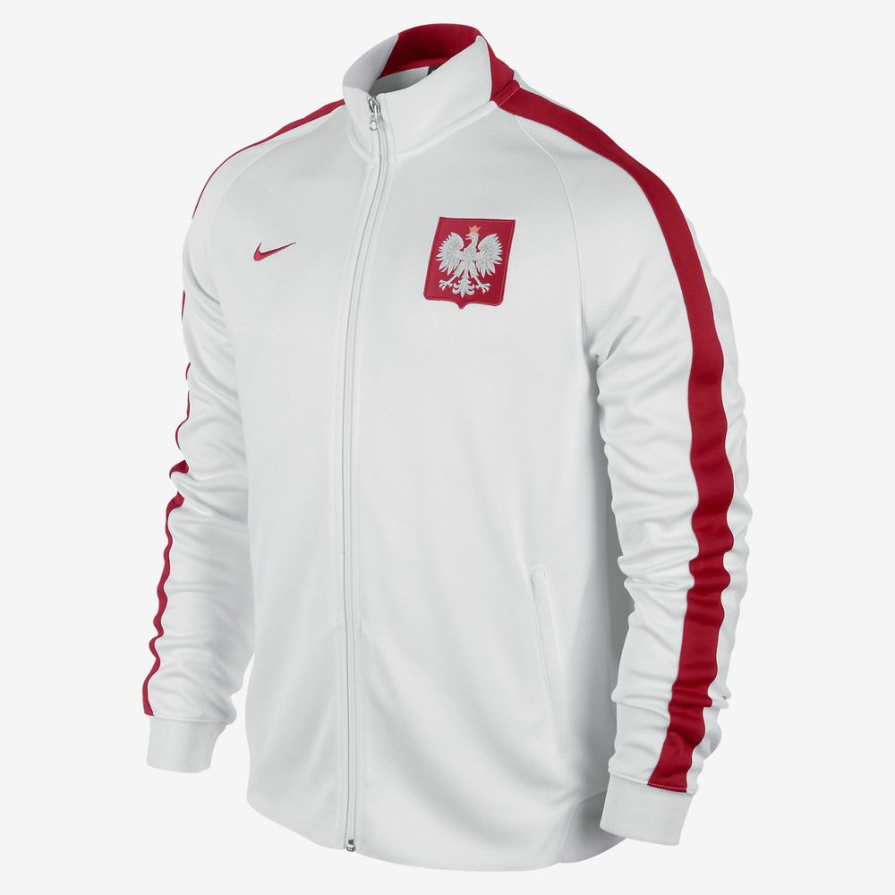 NIKE POLAND AUTHENTIC N98 jacket 605359 MENS M WHITE RED