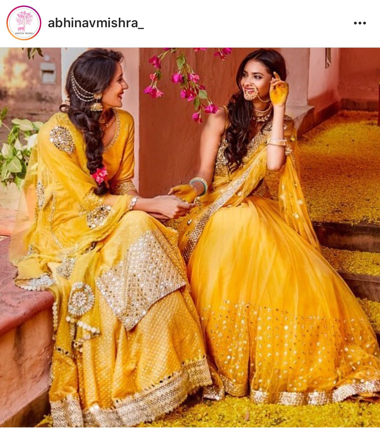 Yellow Holud Haldi Celebration Outfit Lehenga Choli