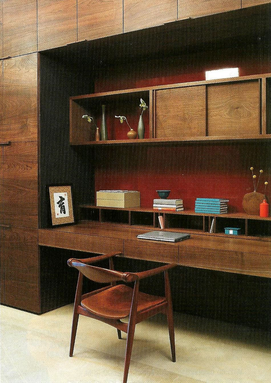 great look for a modern mid century home office home office pinterest modern homes. Black Bedroom Furniture Sets. Home Design Ideas