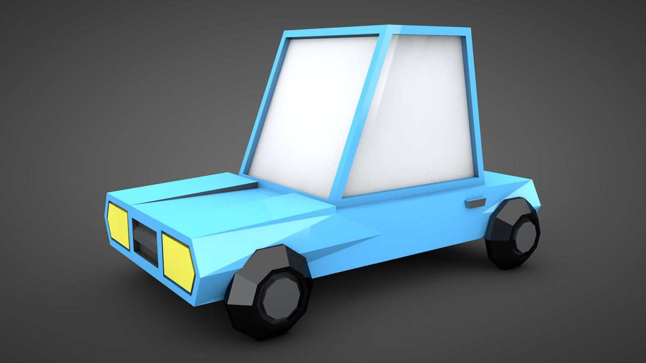 Tutorial model a low poly car in cinema 4d 3d modeling tutorial model a low poly car in cinema 4d malvernweather Choice Image
