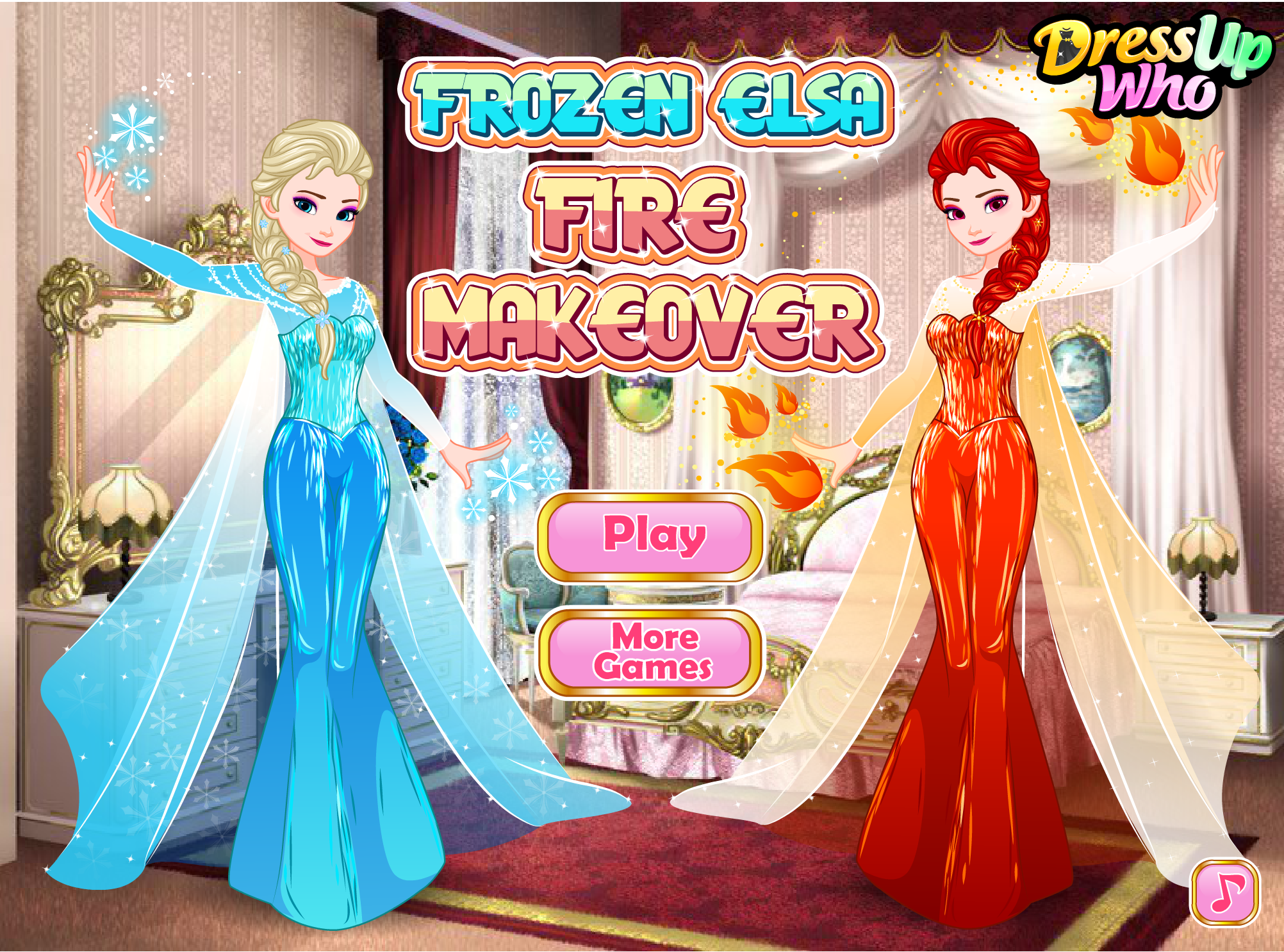 Frozen Elsa Fire Makeover! #disney #princess #snow #queen #elsa #makeup #dressup #game