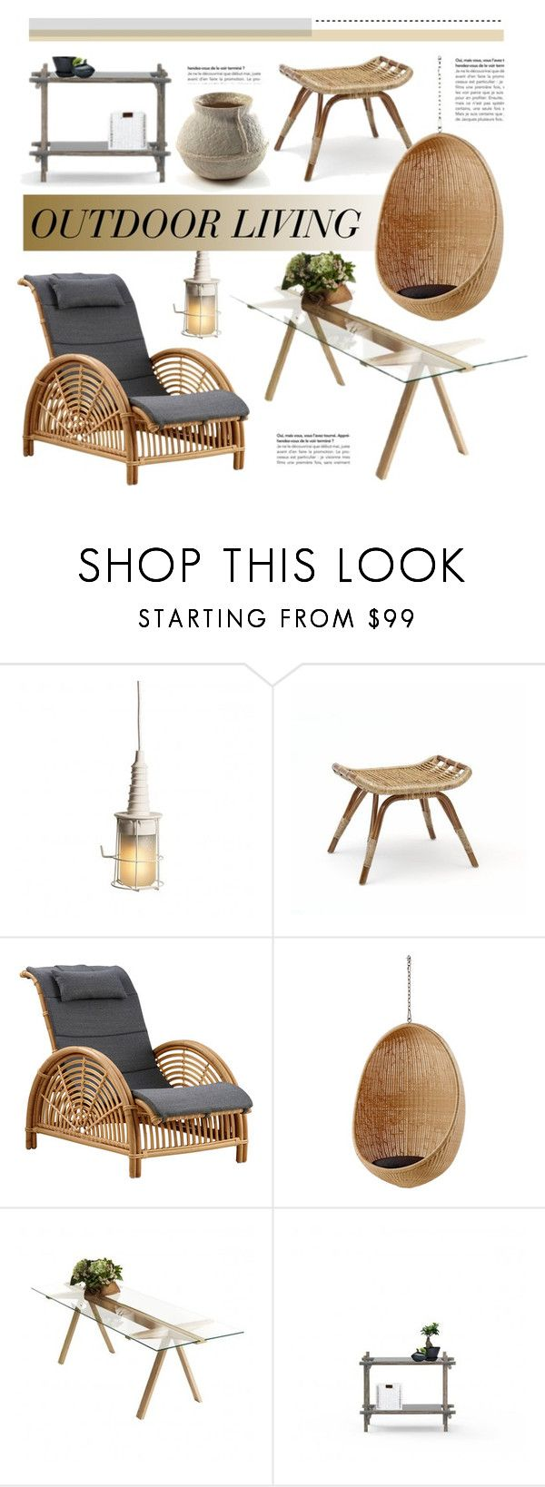 """""""Outdoors"""" by lovethesign-eu ❤ liked on Polyvore featuring interior, interiors, interior design, home, home decor, interior decorating, Sika, Serax, Home and outdoors"""