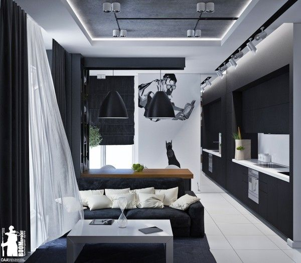 12 Lovely White Living Room Furniture Ideas: Artistic Apartments With Monochromatic Color Schemes